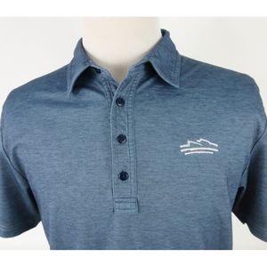 Travis Mathew Large Golf Polo Shirt Darker Blue